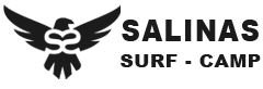 logo tipo surf camp salinas